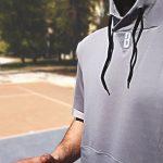 Felpa-basketball-asciugamano-pallacanestro-cappuccio-hooded-grigio-grande - ModelS