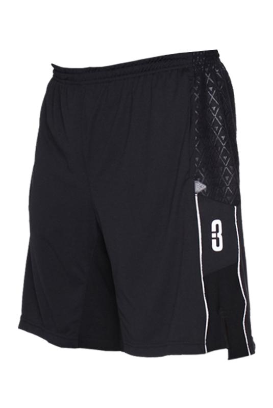 3.0 Pantaloncini-Basketball-asciugamano-pallacanestro-shorts-Black