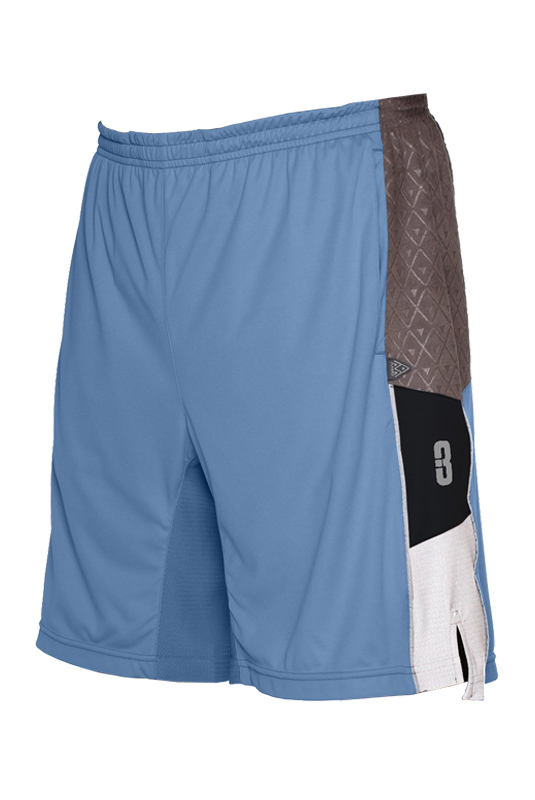 3.0 Pantaloncini-Basketball-asciugamano-pallacanestro-shorts-Lightblue
