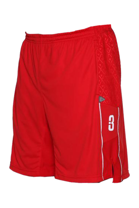 3.0 Pantaloncini-Basketball-asciugamano-pallacanestro-shorts-Red