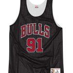 Bulls Black Double-Face Rodman