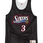 Philadelphia 76ers Black Double-Face Iverson