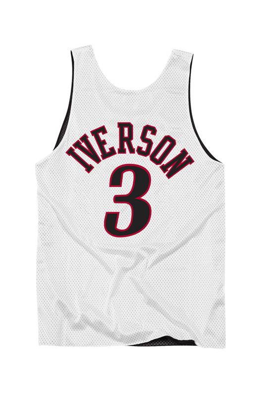 Philadelphia 76ers Double-Face Iverson White